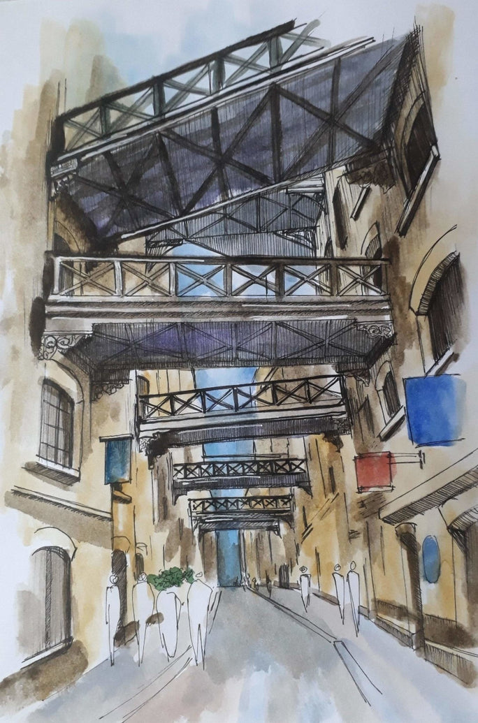 London Shad Thames Art Print - Printed Originals