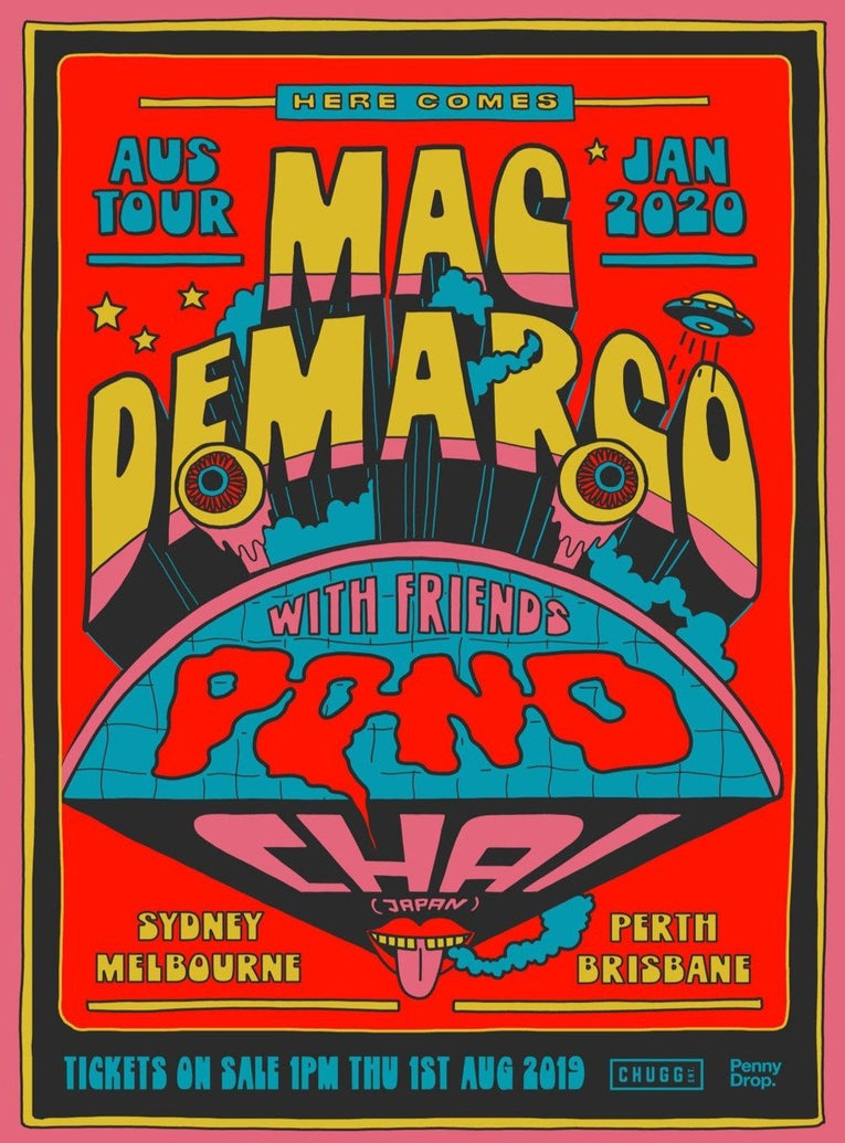 Mac DeMarco - Australian Tour - Printed Originals