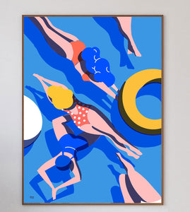 Swimmers III Art Print