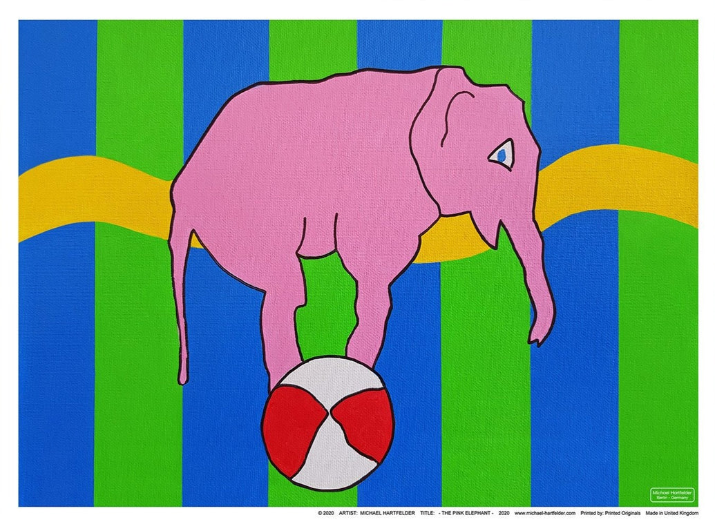 The Pink Elephant Limited Art Print