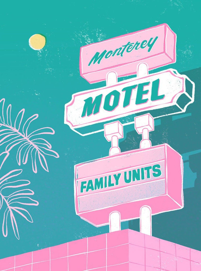 Motel Vibes Limited Art Print - Printed Originals