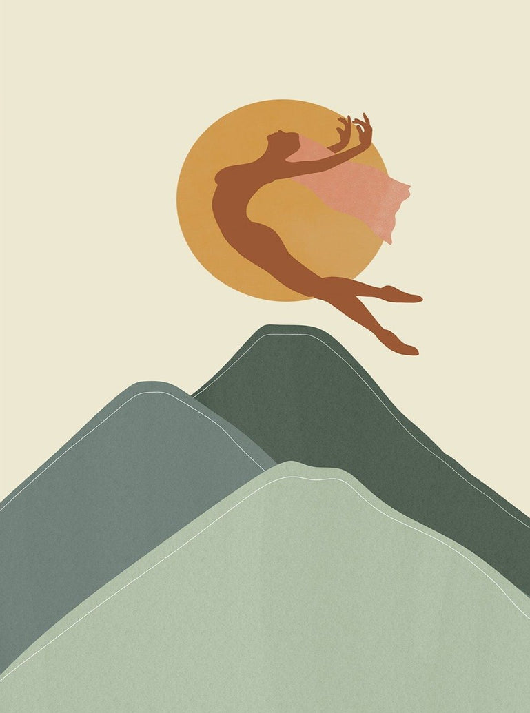 Mountain Leap Limited Art Print - Printed Originals
