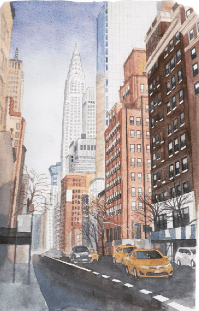New York Manhattan Art Print - Printed Originals