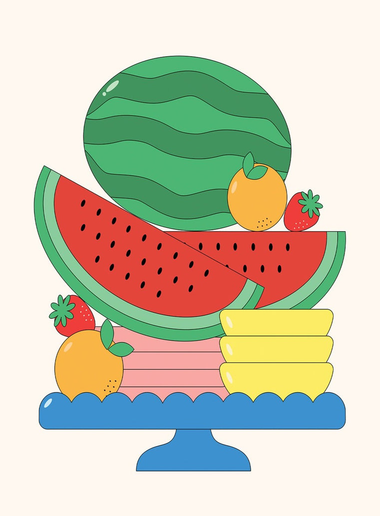 Fruit Stack Art Print