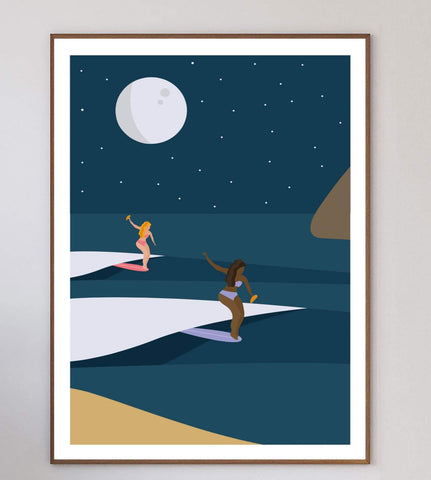 Night Surf Limited Art Print