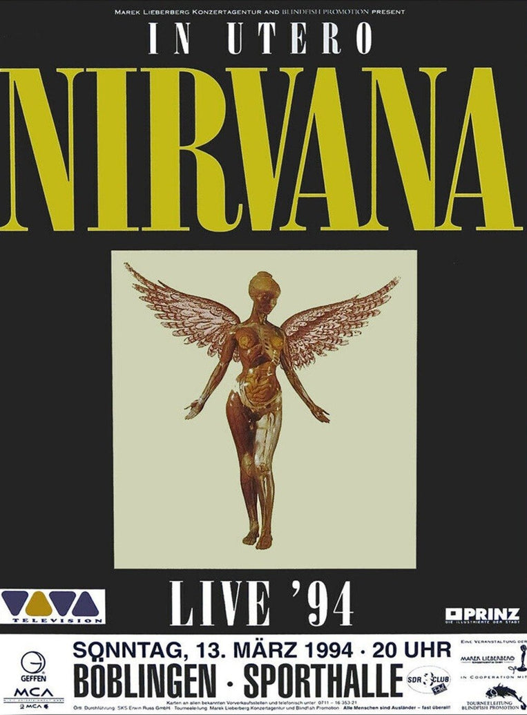 Nirvana - In Utero Live - Printed Originals