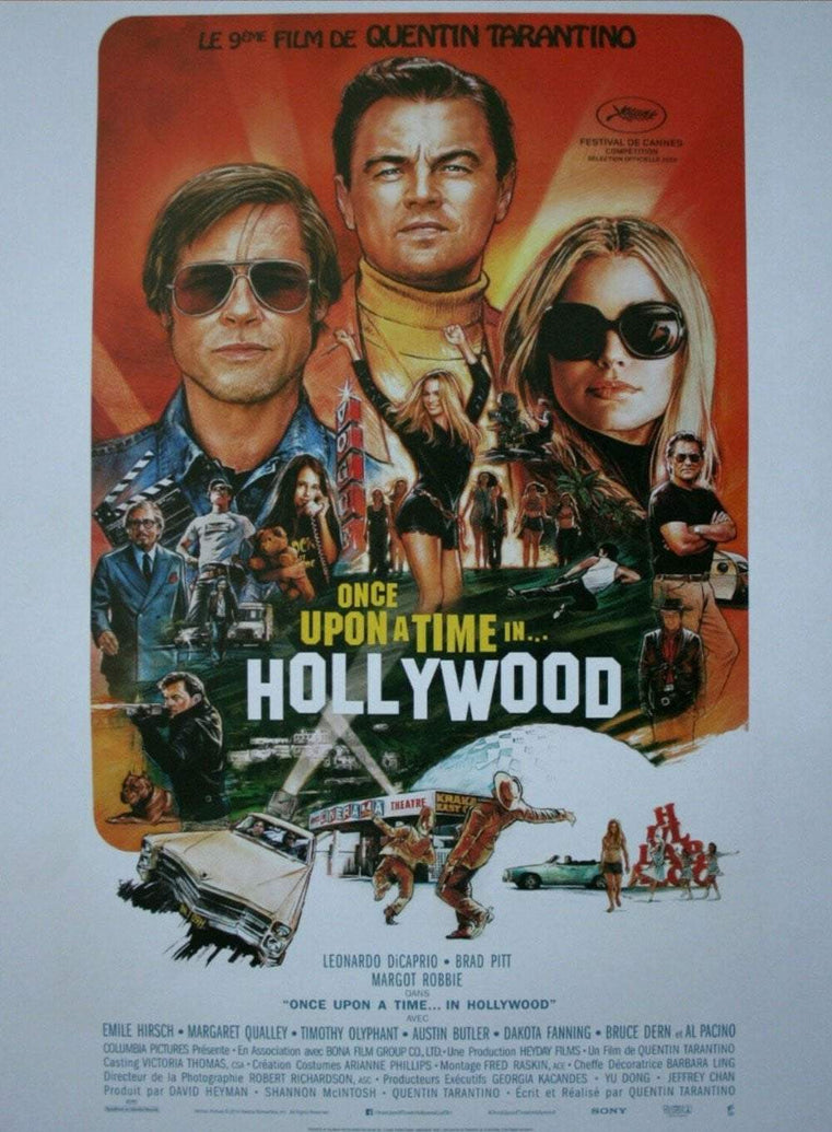 Once Upon A Time In Hollywood (French) - Printed Originals