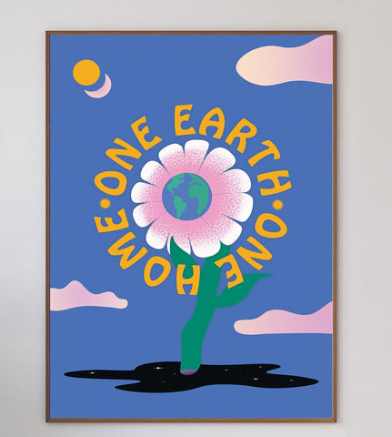 One Earth, One Home Limited Art Print