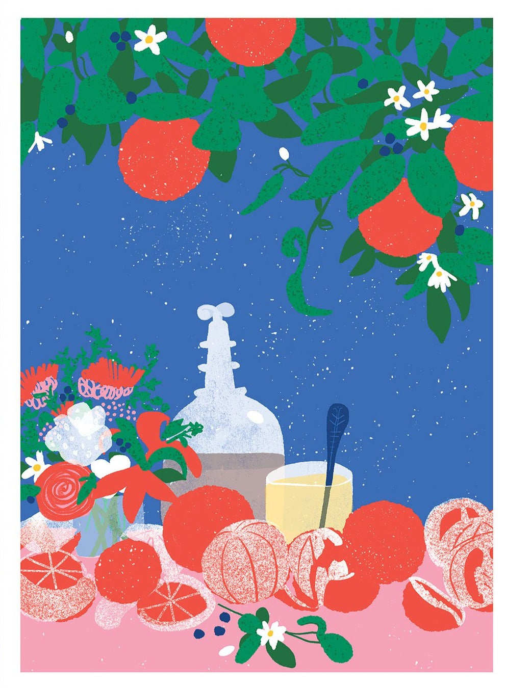 Still Life With Oranges Limited Art Print