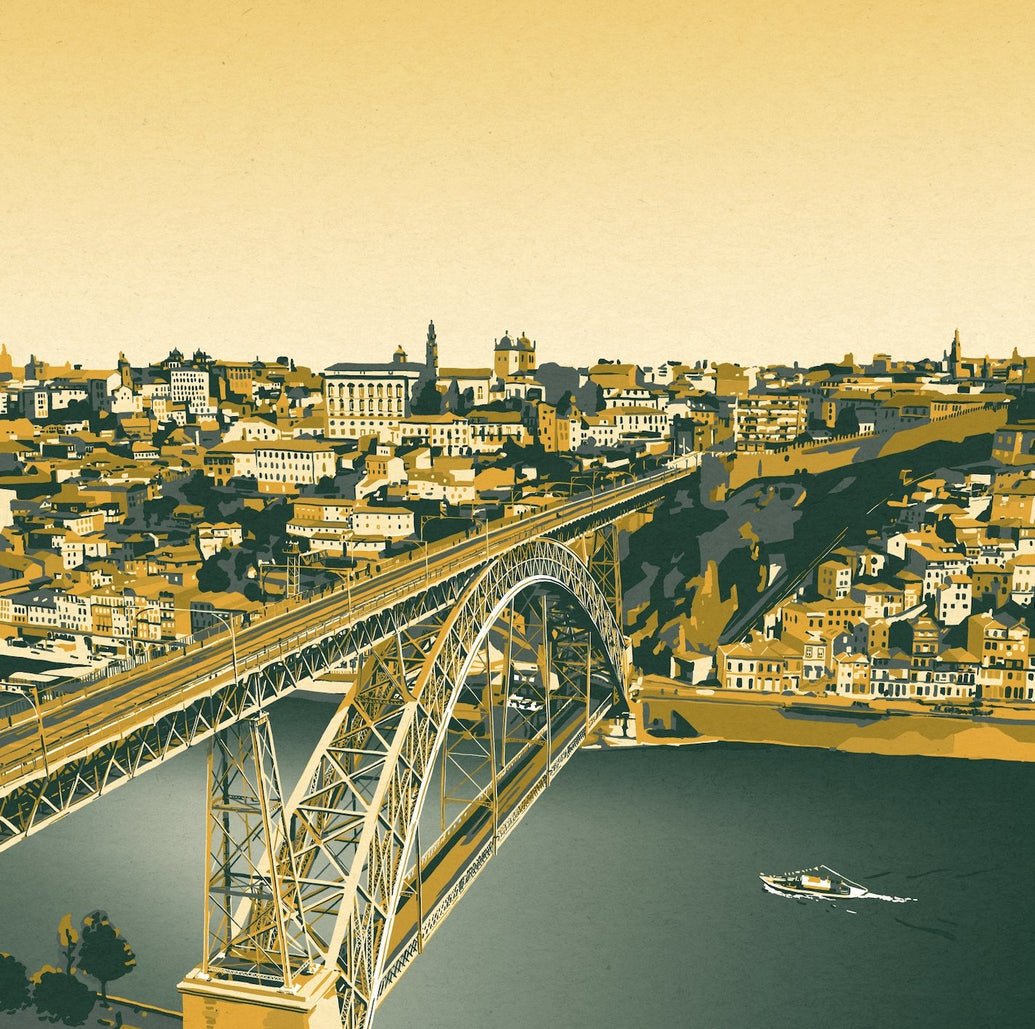 Ponte D.Luiz Art Print - Printed Originals
