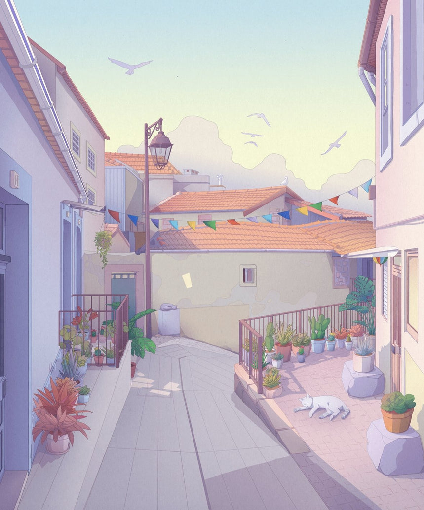 Porto Alleys Art Print - Printed Originals