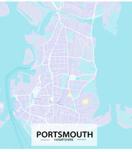 Load image into Gallery viewer, Portsmouth Map Art Print - Printed Originals