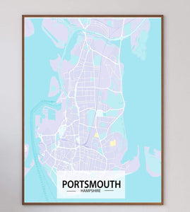 Portsmouth Map Art Print - Printed Originals