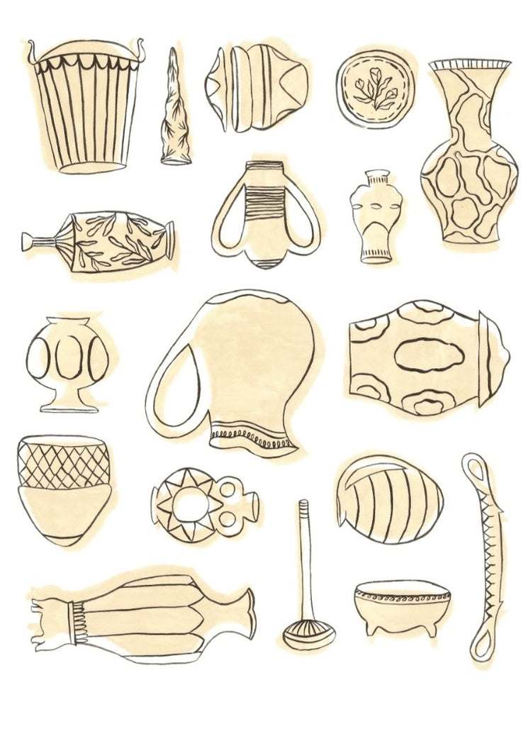Pottery Art Print - Printed Originals