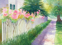 Load image into Gallery viewer, Rose Covered Gate Art Print - Printed Originals
