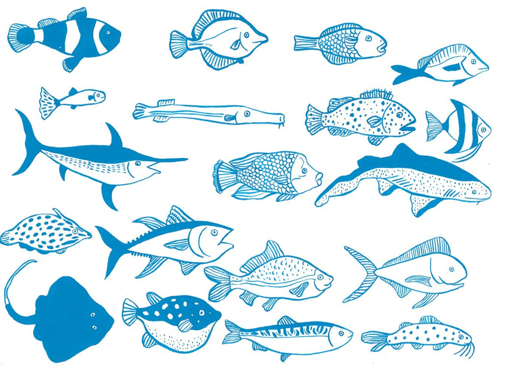 Fish In Blue Limited Art Print