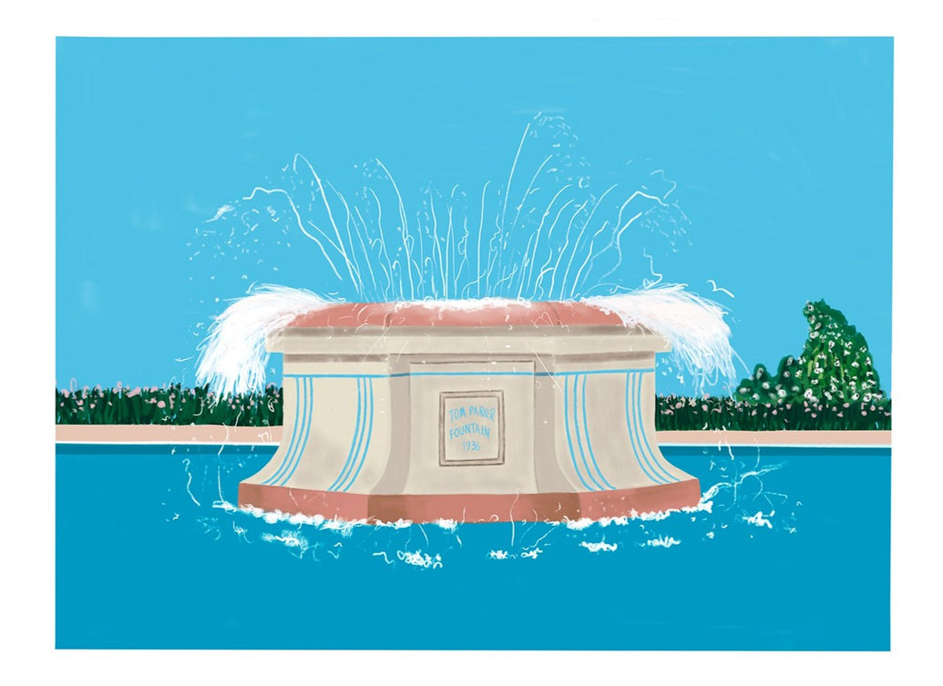 Tom Parker Water Fountain Limited Art Print