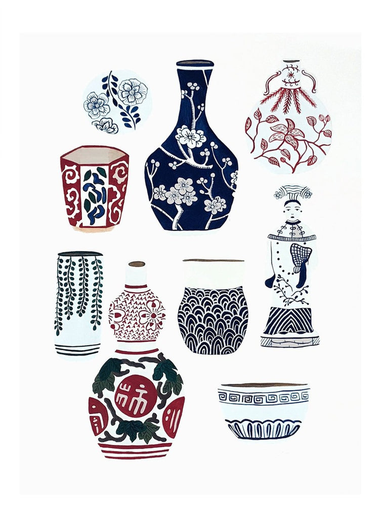 Collection of Ceramics Limited Art Print