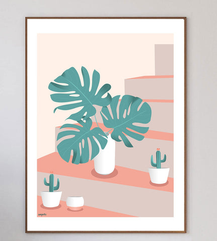 Monstera & Cacti Limited Art Print