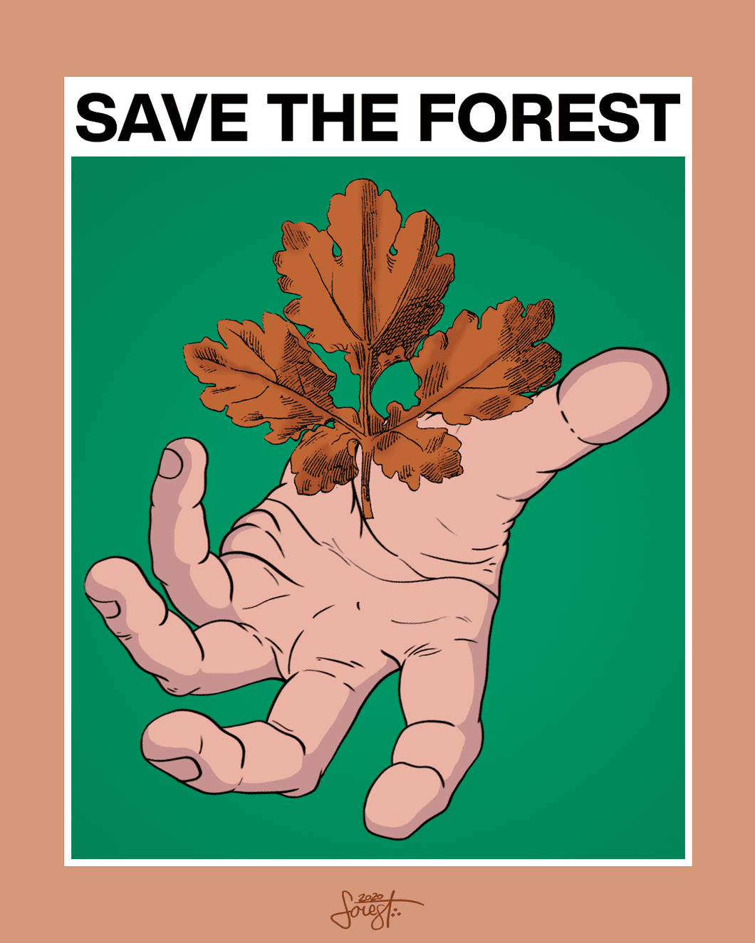 Save the Forest Art Print - Printed Originals