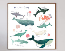 Load image into Gallery viewer, Sea Creatures Art Print - Printed Originals