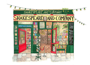 Shakespeare & Company Bookstore Art Print - Printed Originals