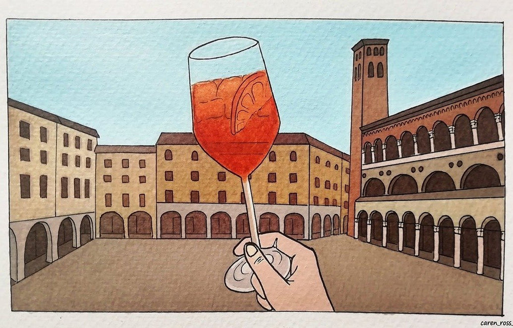 Spritz in Padua Limited Art Print - Printed Originals