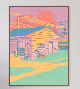 Sunset House Limited Art Print - Printed Originals