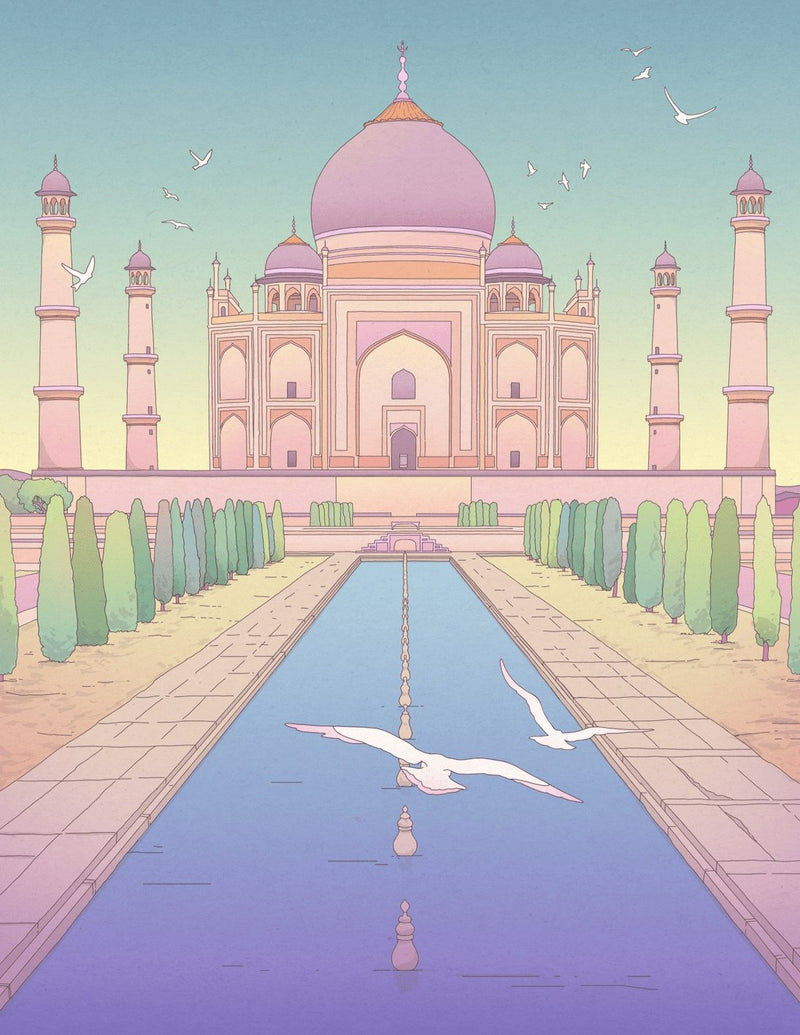Taj Mahal Art Print - Printed Originals