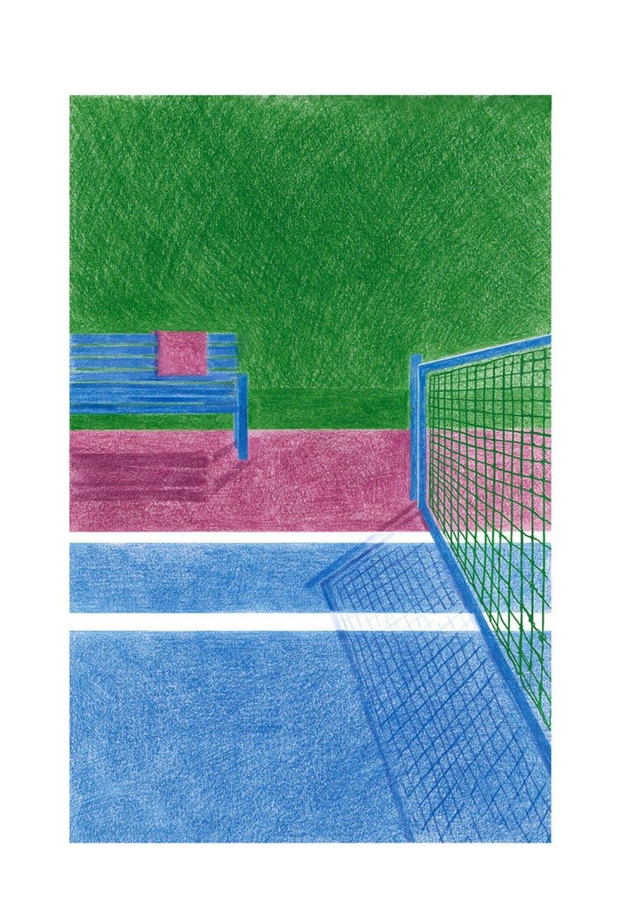 Tennis II Limited Art Print - Printed Originals