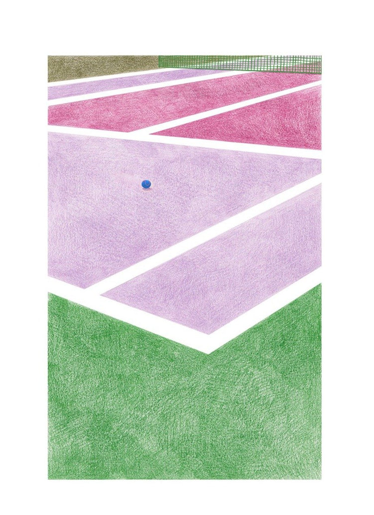 Tennis III Limited Art Print - Printed Originals