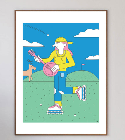 Ca Roule Limited Art Print