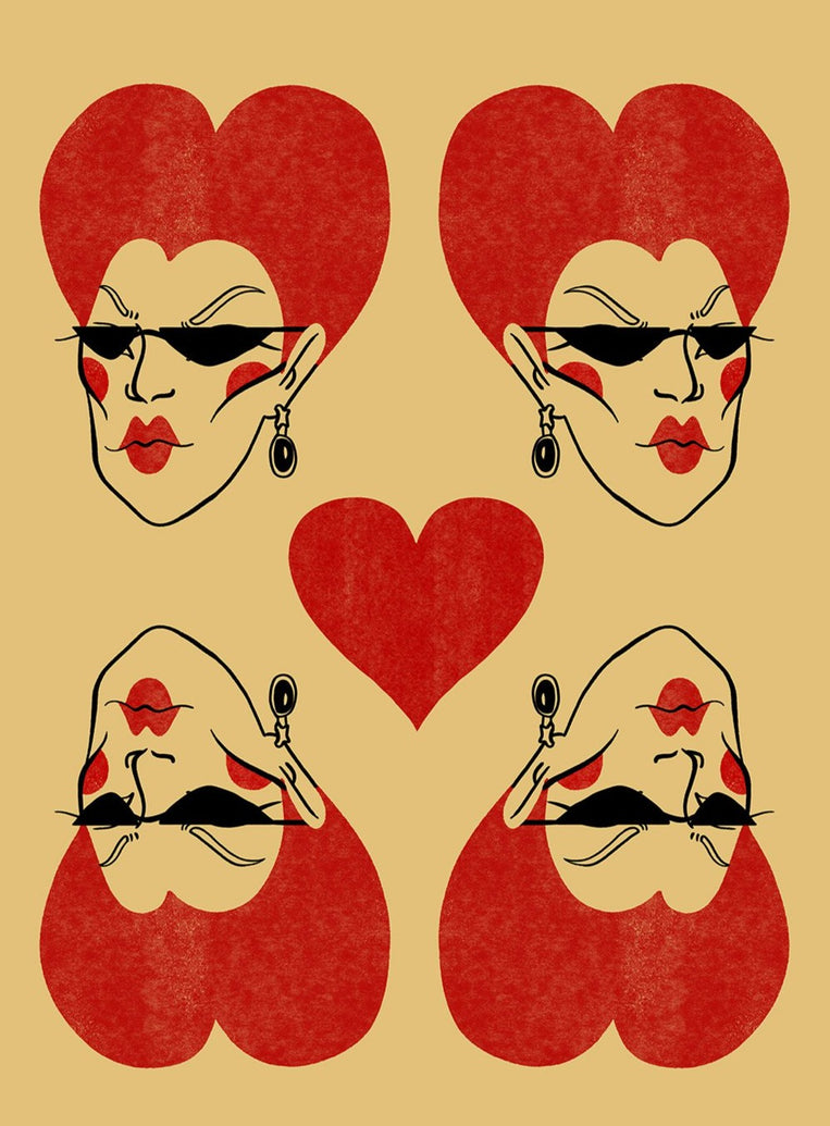 Queen of Hearts Limited Art Print