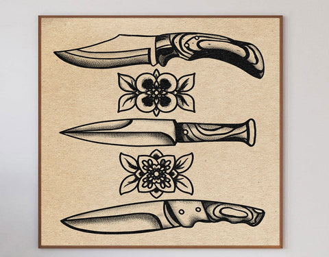 Knives Limited Art Print