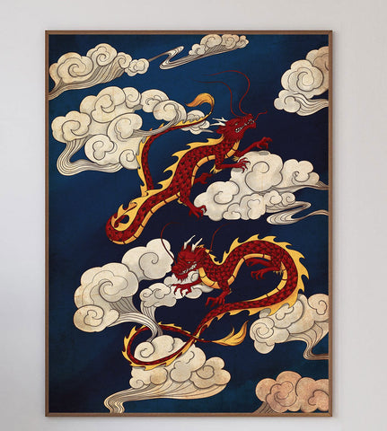 Dancing Dragons Limited Art Print