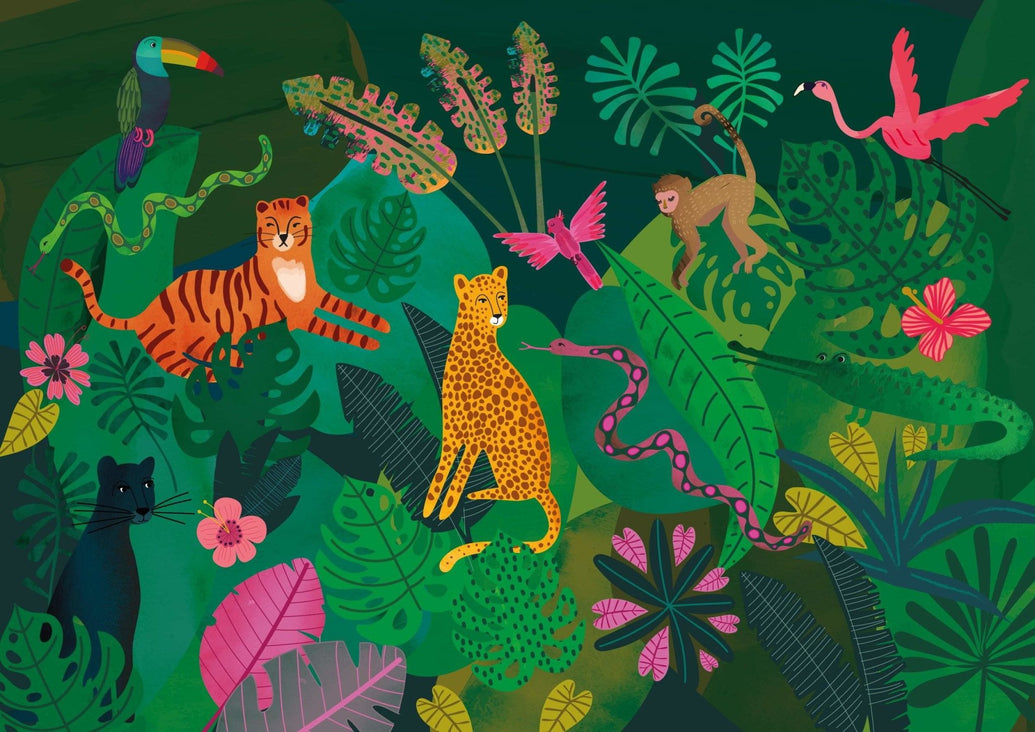 Watercolour Jungle Art Print - Printed Originals