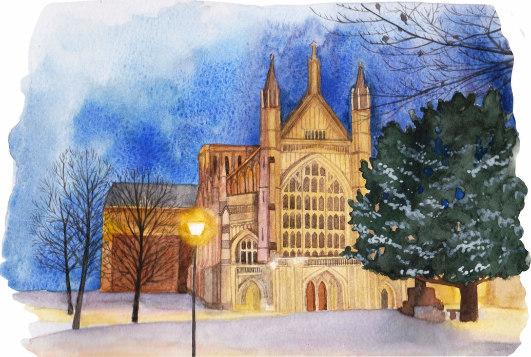 Winchester Cathedral Art Print - Printed Originals
