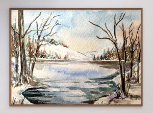 Winter Landscape Limited Art Print - Printed Originals