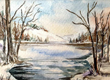 Load image into Gallery viewer, Winter Landscape Limited Art Print - Printed Originals