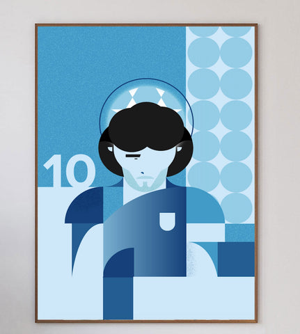 Maradona Limited Art Print