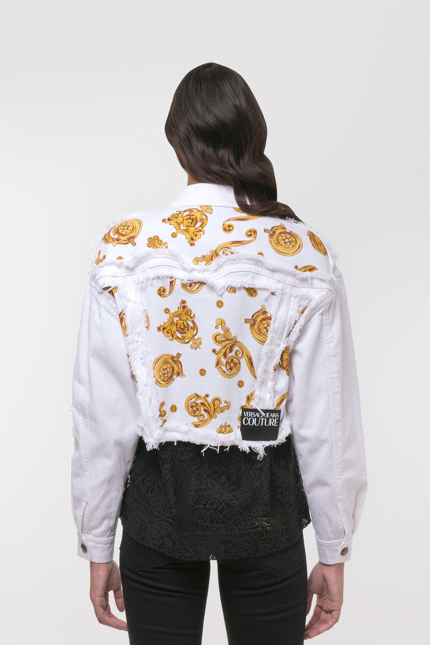 Versace Jeans Couture White Denim Jacket