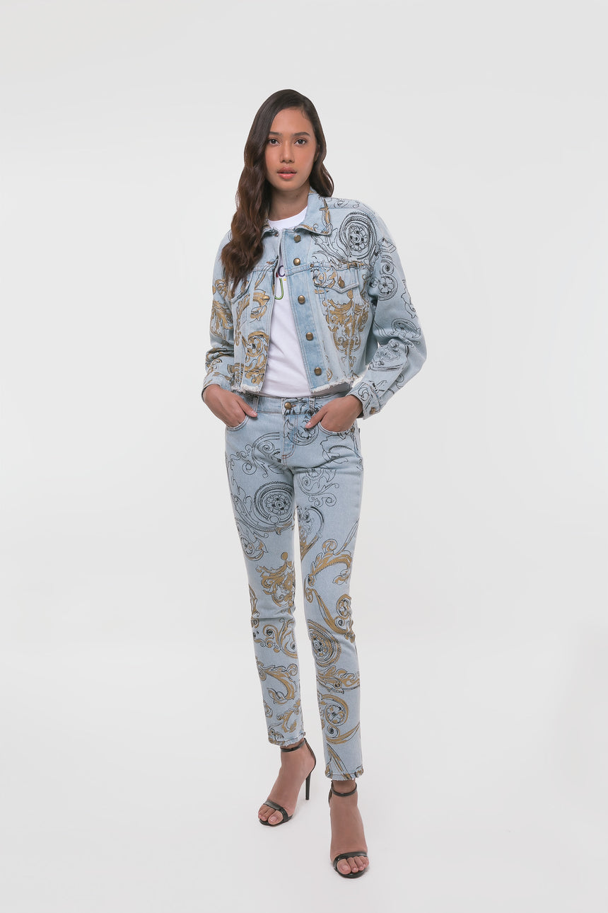 Versace Jeans Couture Denim Baroque Jacket