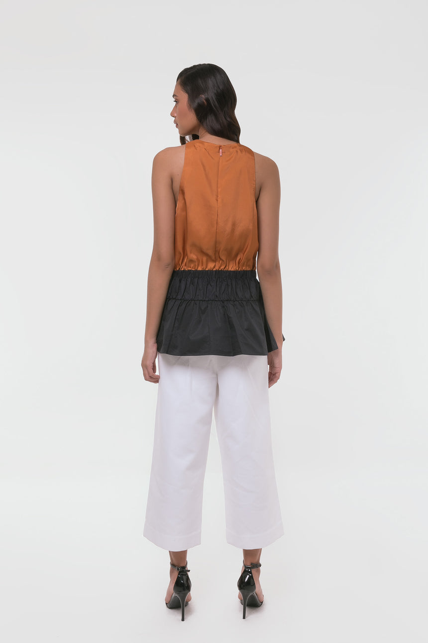 Tibi Mendini Twill Sleeveless Top