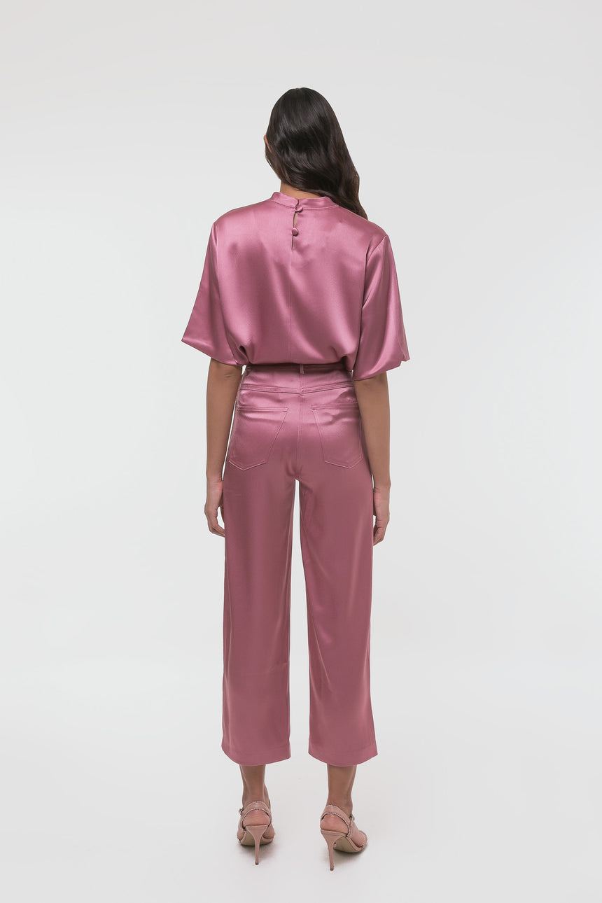 Nanushka Wide Leg Satin Pants