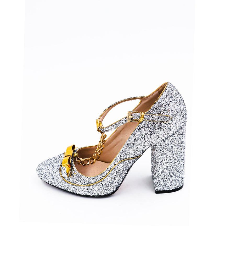 N21 Glitter Mary Jane Pumps
