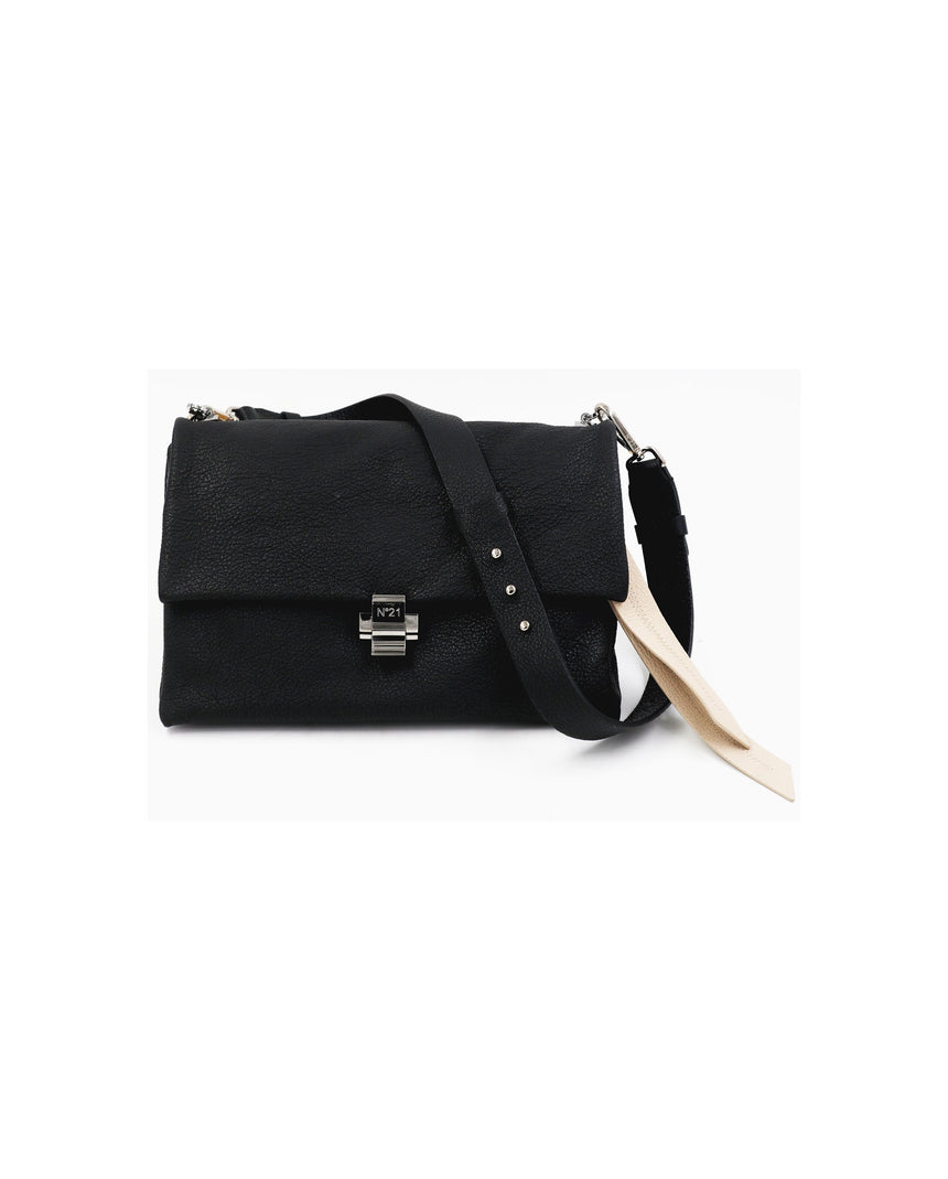 N21 Pebbled Shoulder Bag