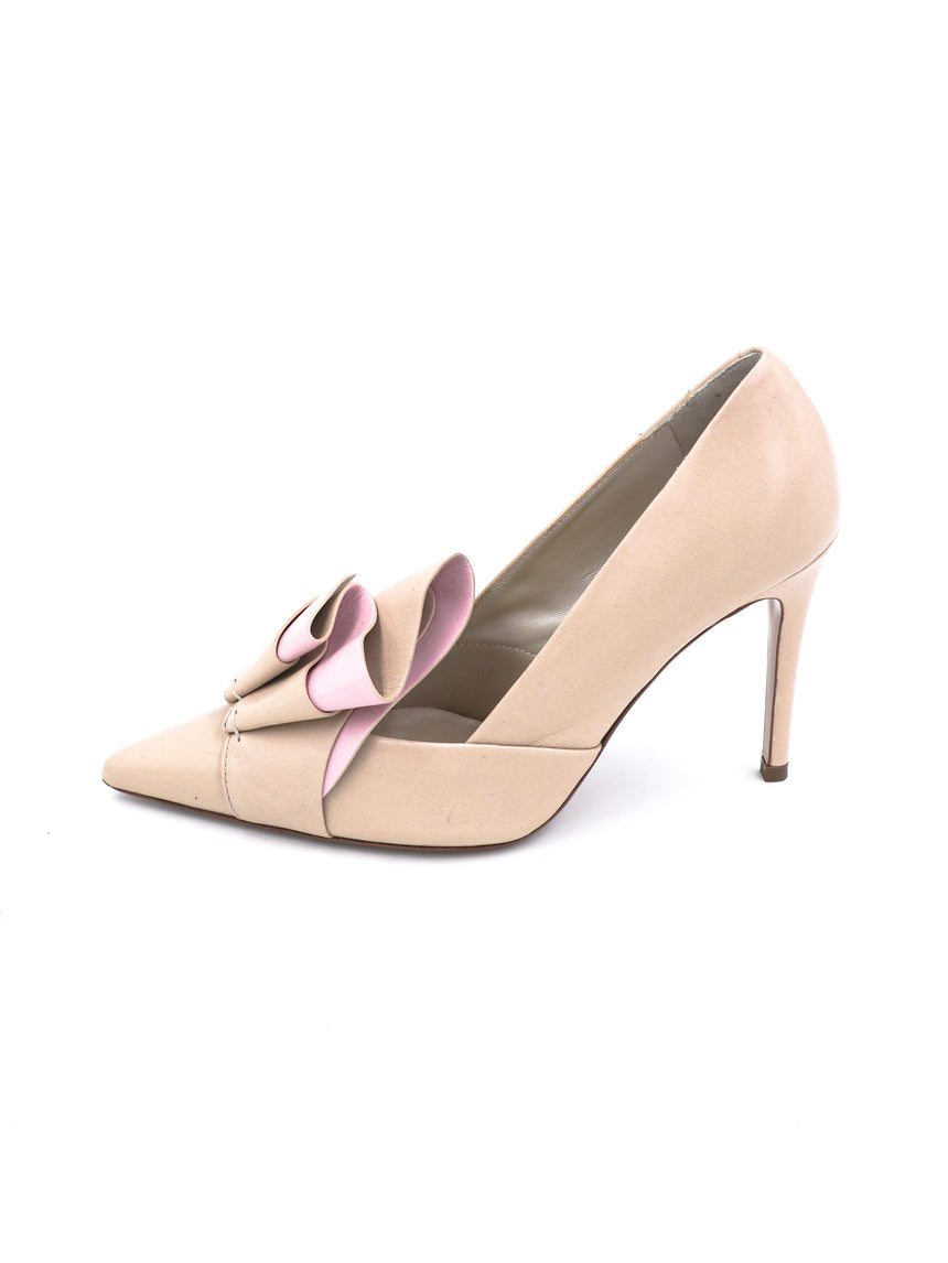 Delpozo Pointed Toe Pumps with Bow