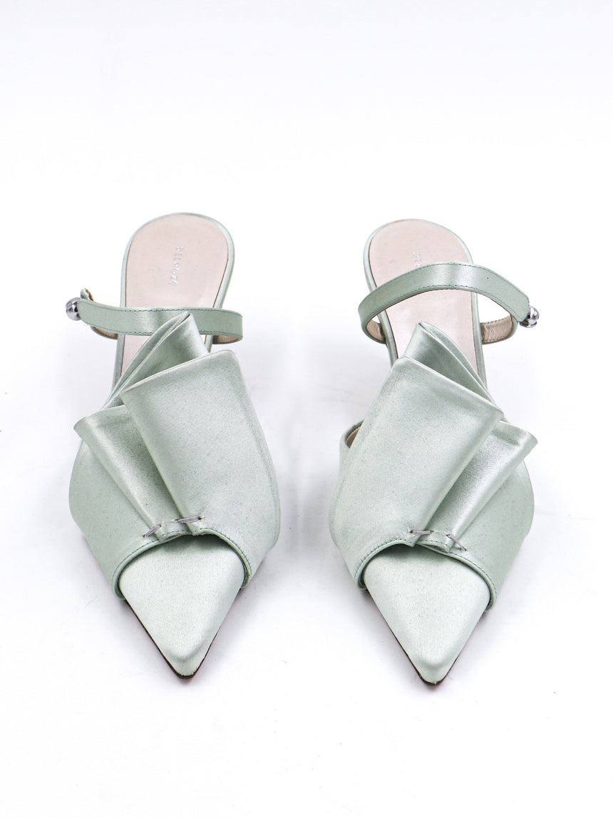 Delpozo Kitten Heel Sandal with Bow