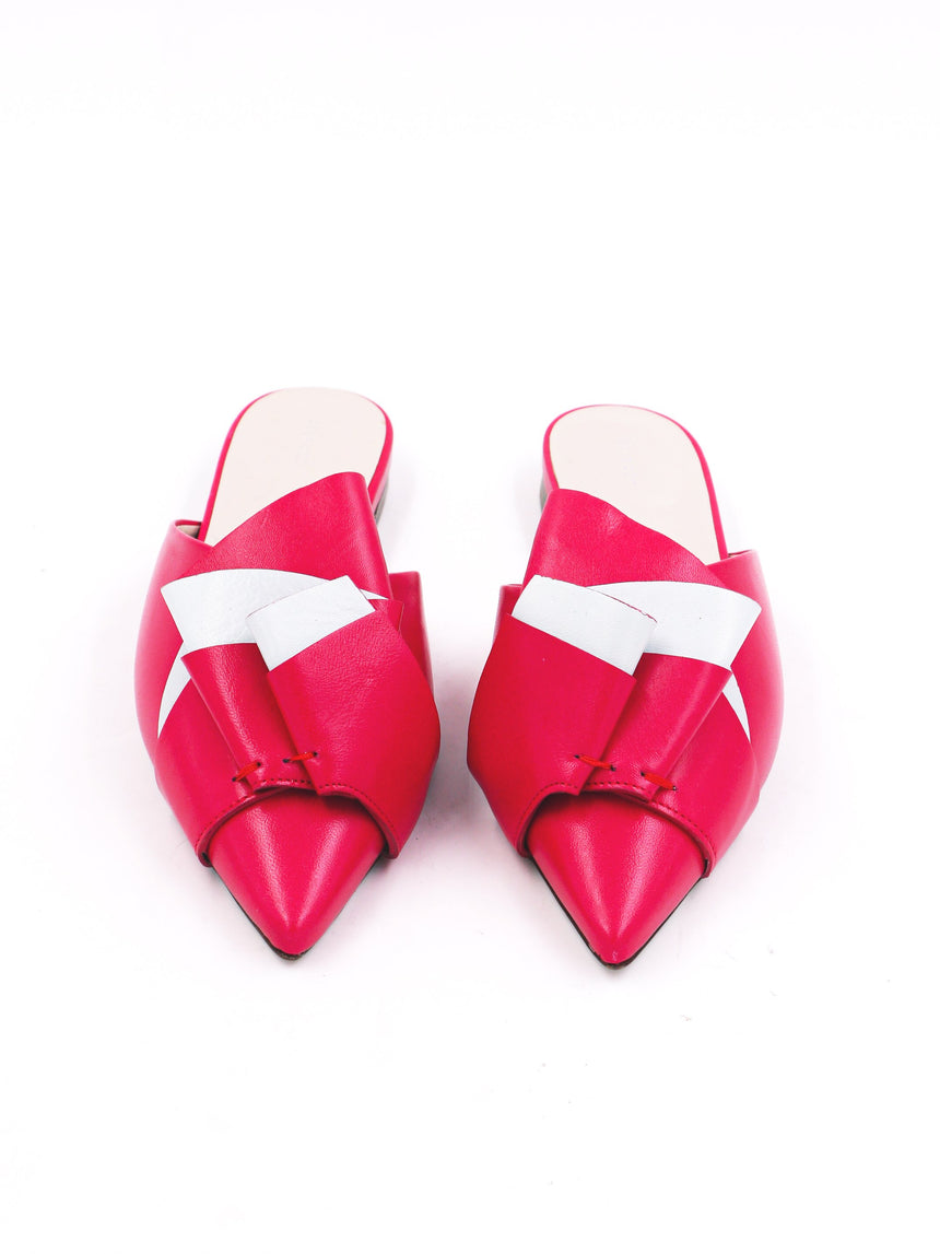 Delpozo Slipon Flats with Bow