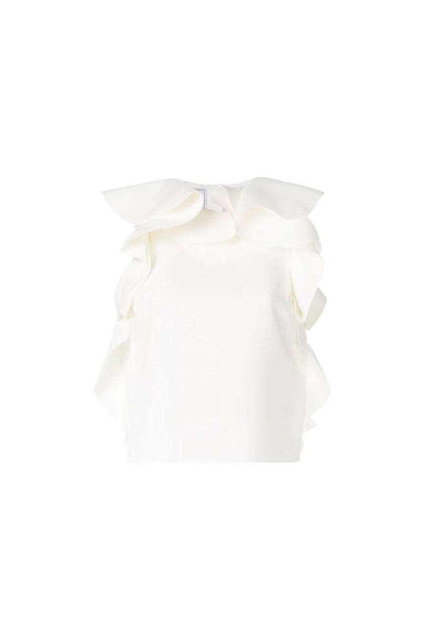 MSGM Ruffled Trim Blouse
